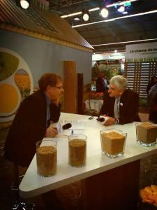 Jean Paul Hébrard (à g.) avec Hervé Morin (Nouveau Centre)