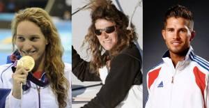 Camille Muffat, Florence Arthaud, Alexis Vastine (Photo: Facebook, Ministère des Sports)