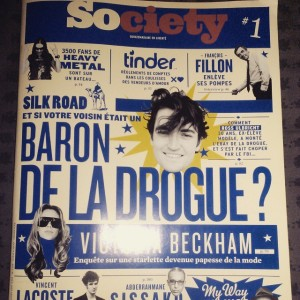 La Une du premier numéro de Society (Photo: Instagram @bouchetmorgan)