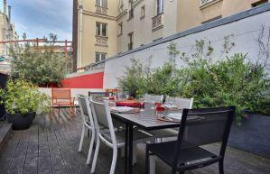 Terrasse disponible dans le quartier du Marais