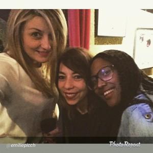 Les 3 Morues (Emilie, Sandra et Fayole) en chair et en os (Instagram: @EmiliePicch)