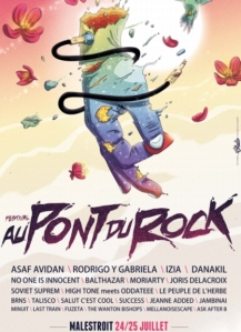 L'affiche de la 25ème édition du festival Au pont du rock