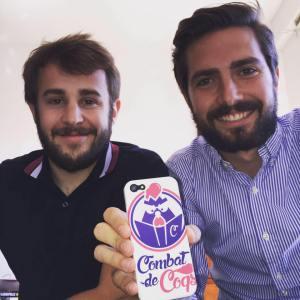 """Antoine et Quentin les deux créateurs de l'appli """"Combat de coqs"""""""