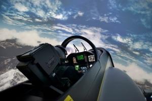 Simulateur d'avion de chasse (crédit photo: I-WAY)